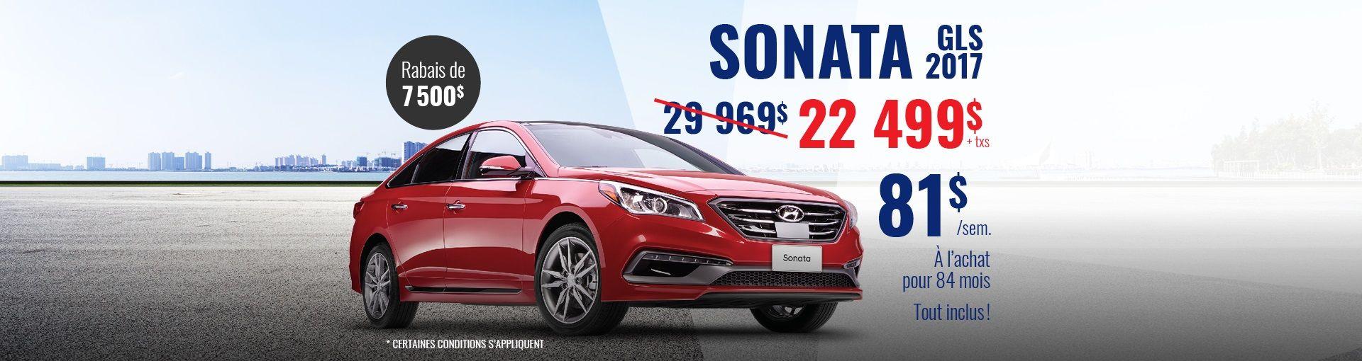 Sonata GLS 2017 Promo Hyundai Casavant St-Hyacinthe (Copie)