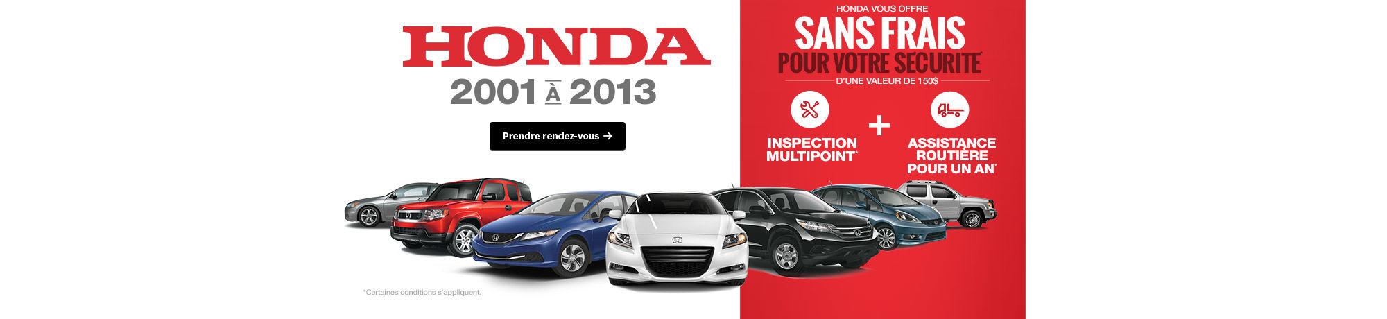 Honda 2001 à 2013