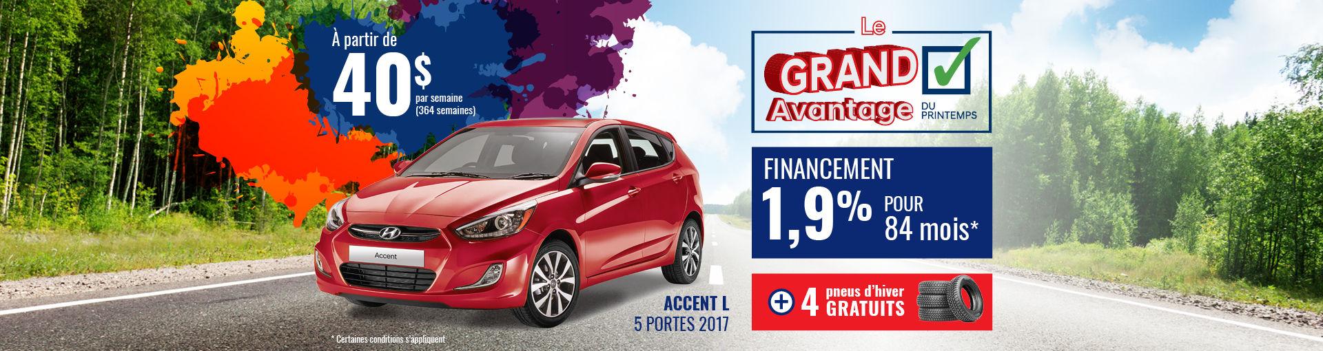 Promo Hyundai Casavant mars 2018-Accent L 2017