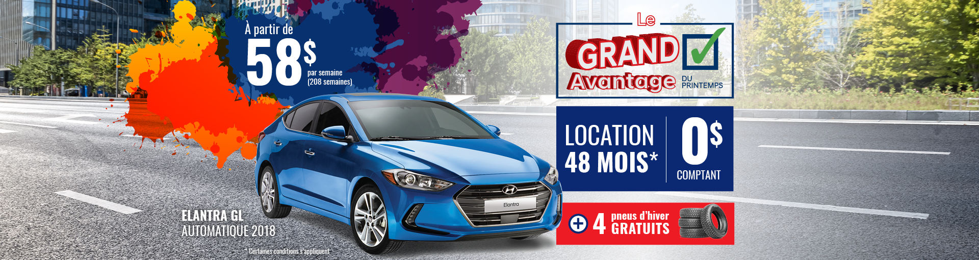 Promo Hyundai Casavant mars 2018-Elantra GL 2018