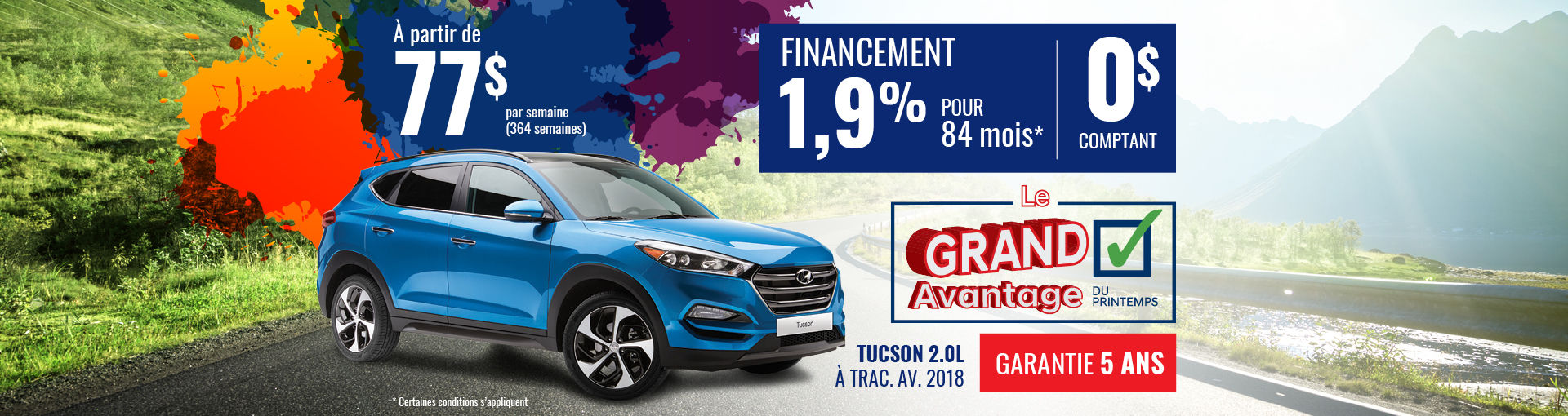Promo Hyundai Casavant avril 2018-Tucson 2018