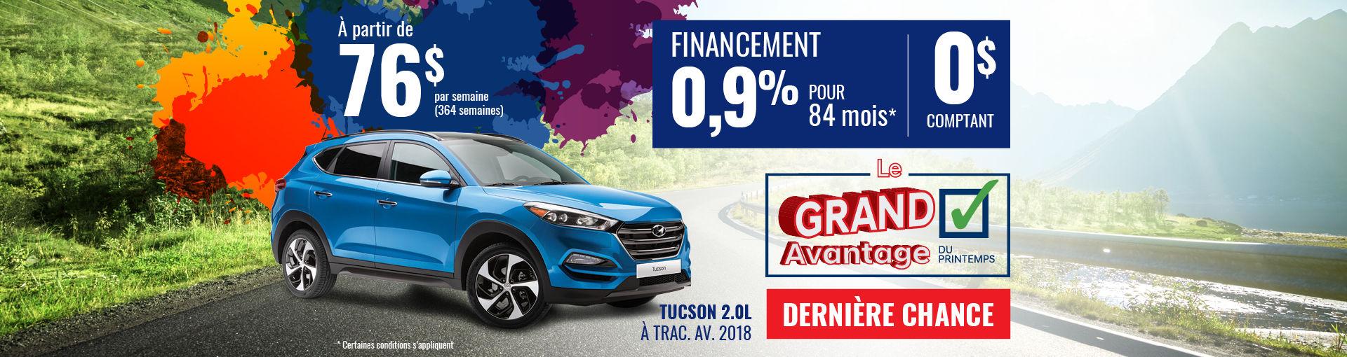 Promo Hyundai Casavant mai 2018-Tucson 2018 (Copie)