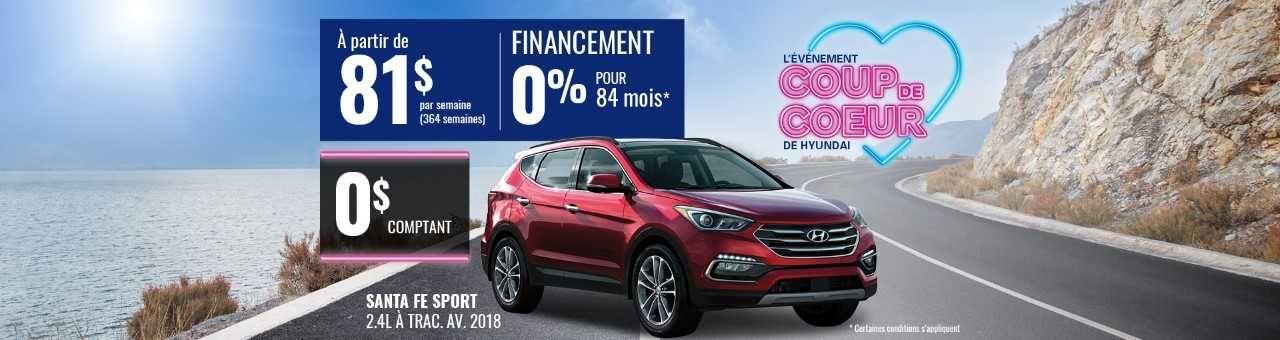 Promo Hyundai Casavant juillet 2018- Santa fe 2018 pc