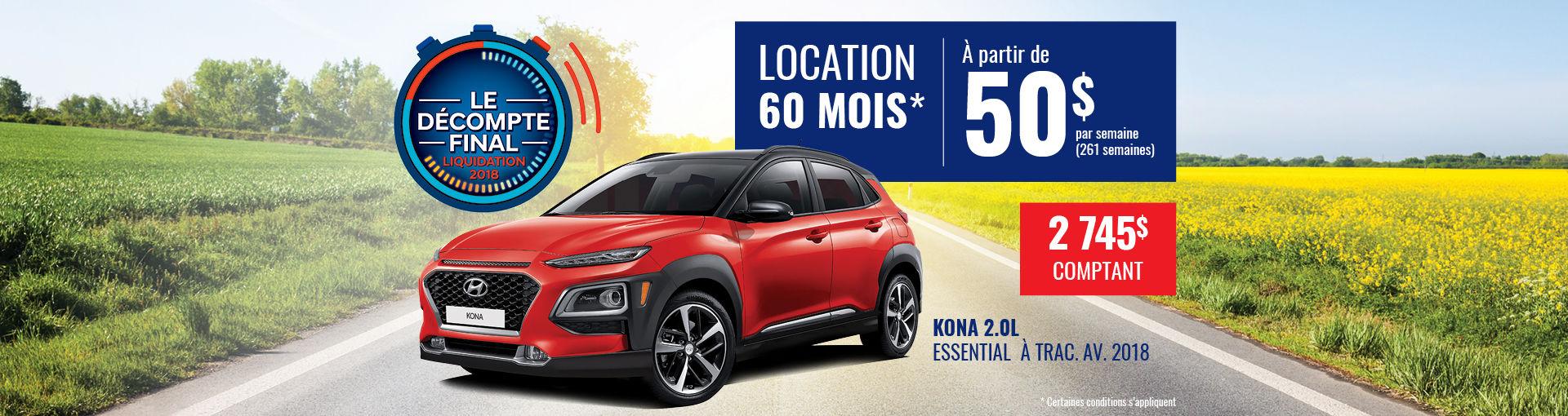 Promo Hyundai Casavant août 2018-Kona 2018 pc