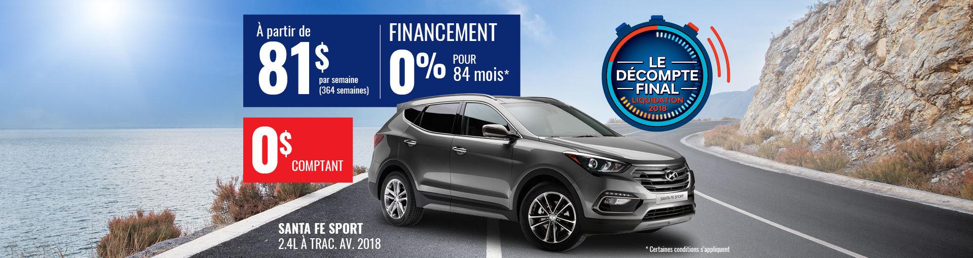 Promo Hyundai Casavant août 2018- Santa fe 2018 pc