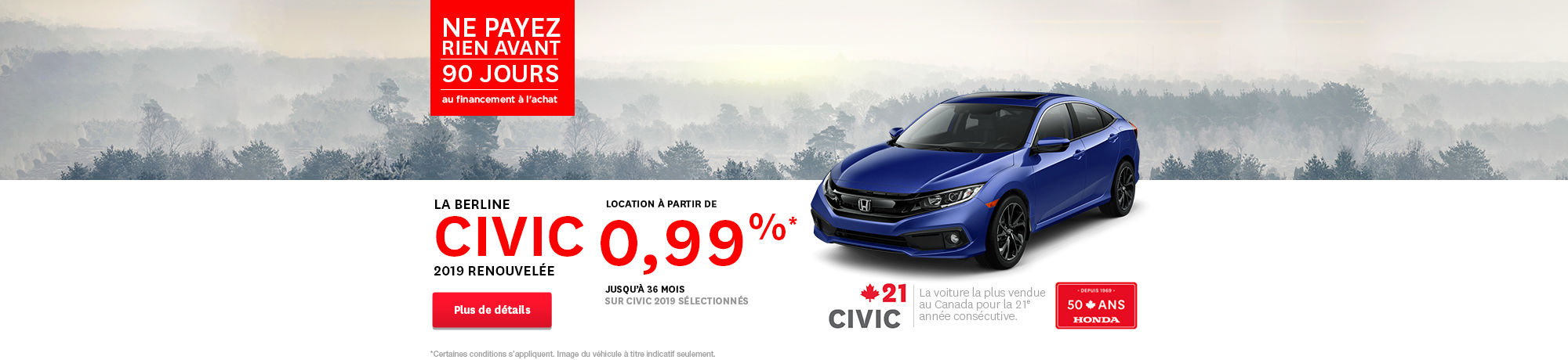 Honda civic 2019 header
