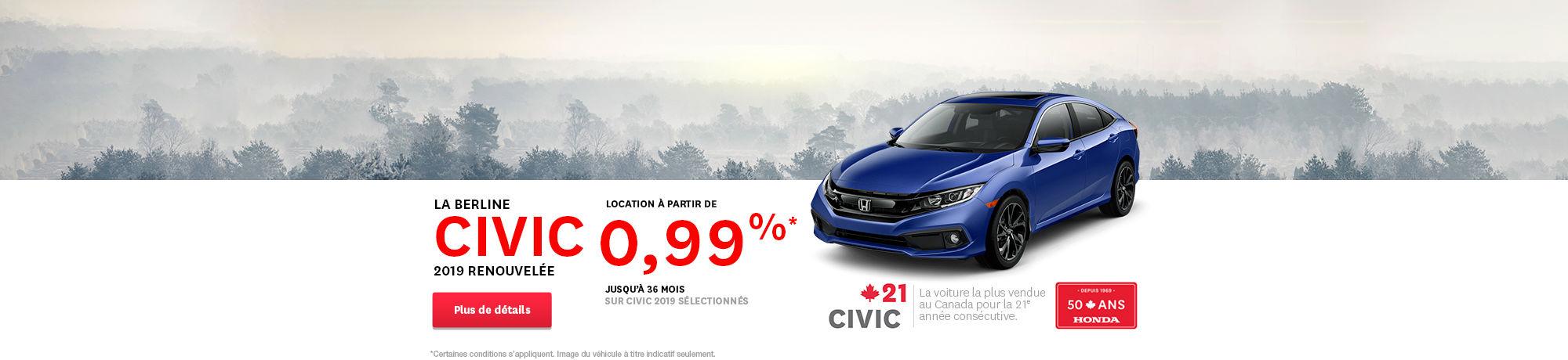 Honda civic 2019 header