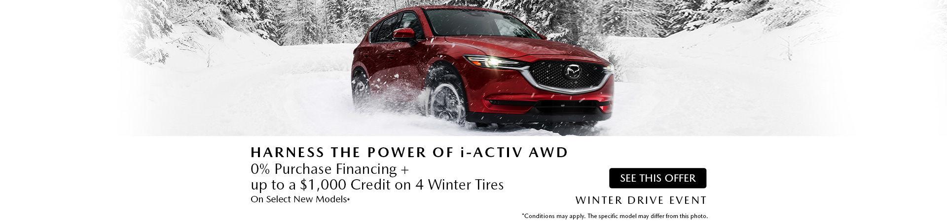 Mazda Winter Drive event