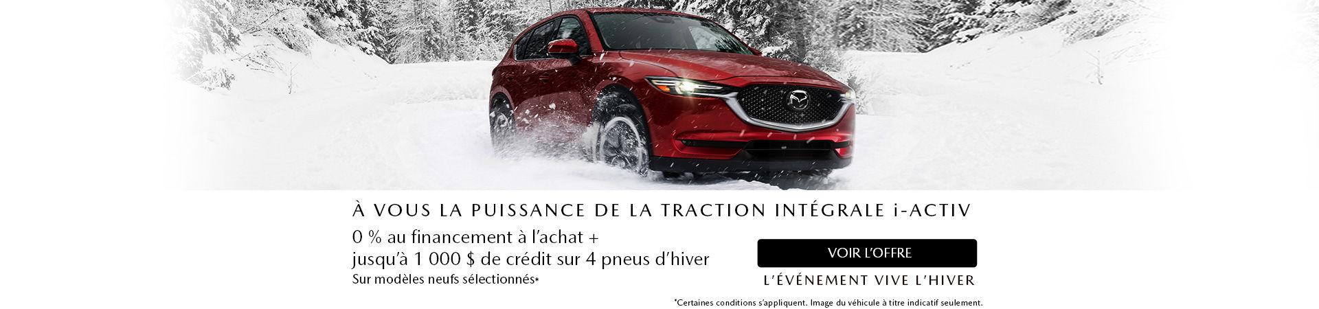 L'événement vive l'hiver Mazda