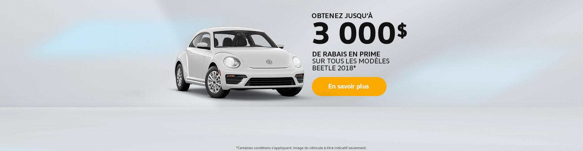 Obtenez la Beetle 2018