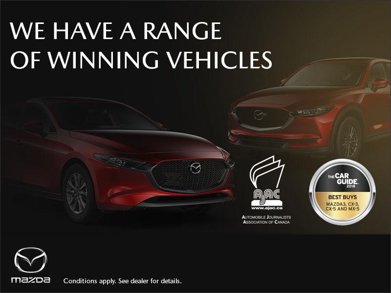 Winning vehicles at Grand Portneuf Mazda