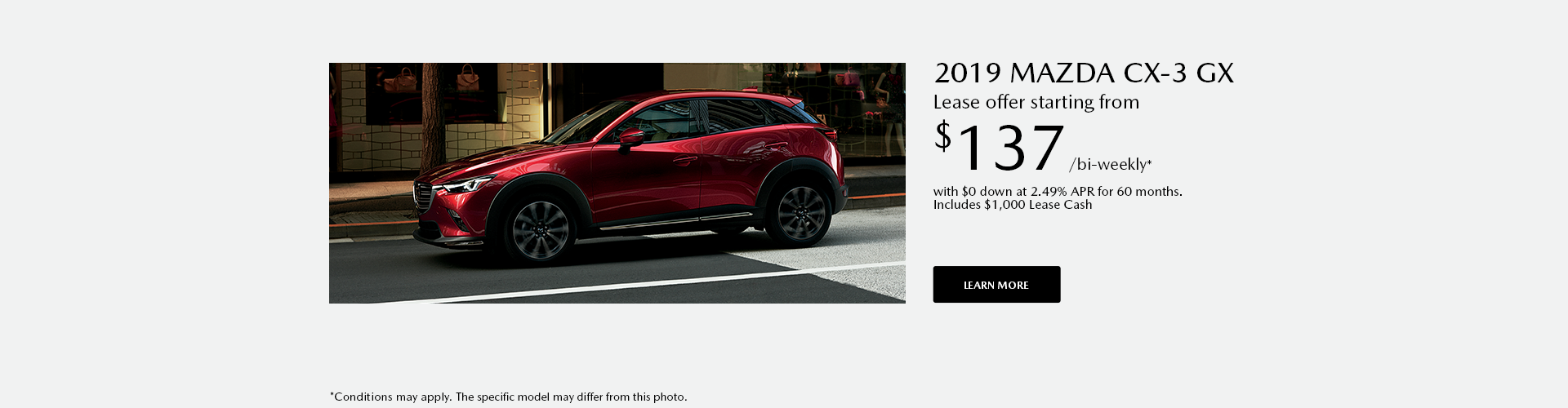 Get the 2019 Mazda CX-3 today !