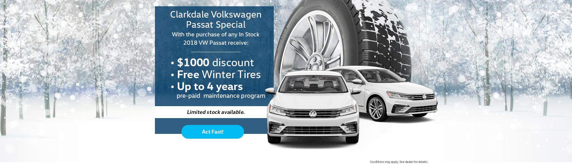 Clarkdale Volkswagen Passat Special