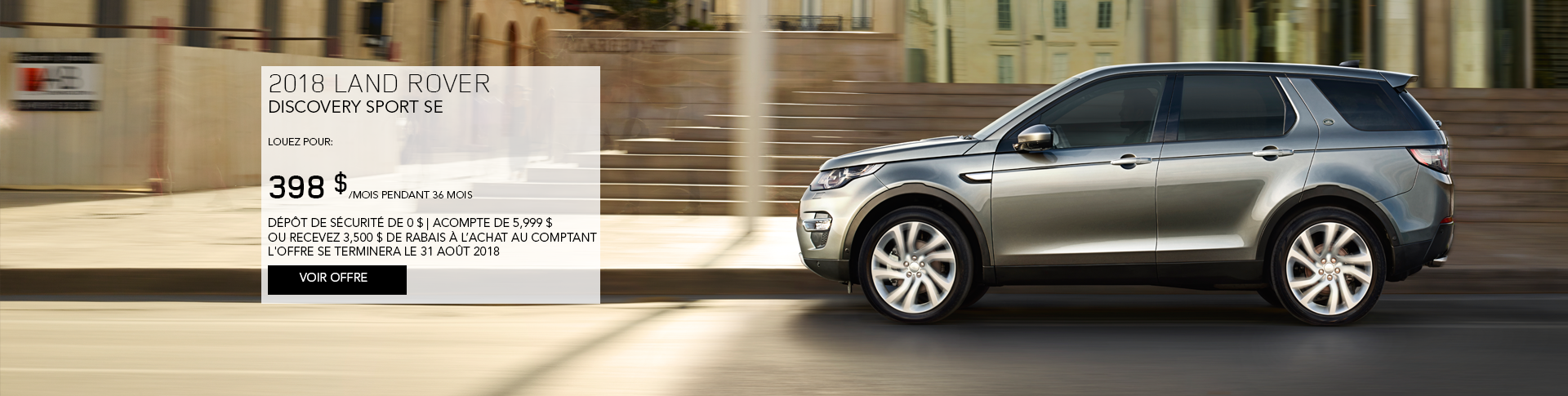 August 2018 Discovery Sport Offer