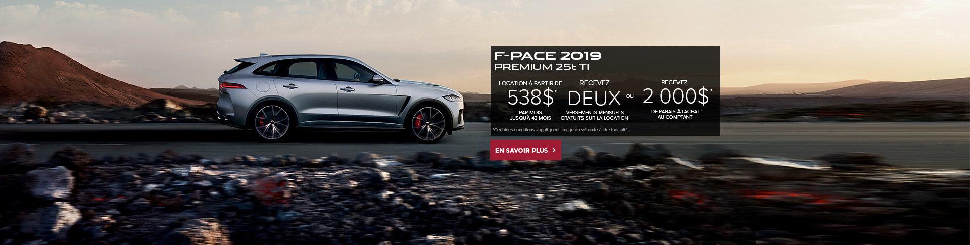 LE F-PACE PREMIUM 25T 2019