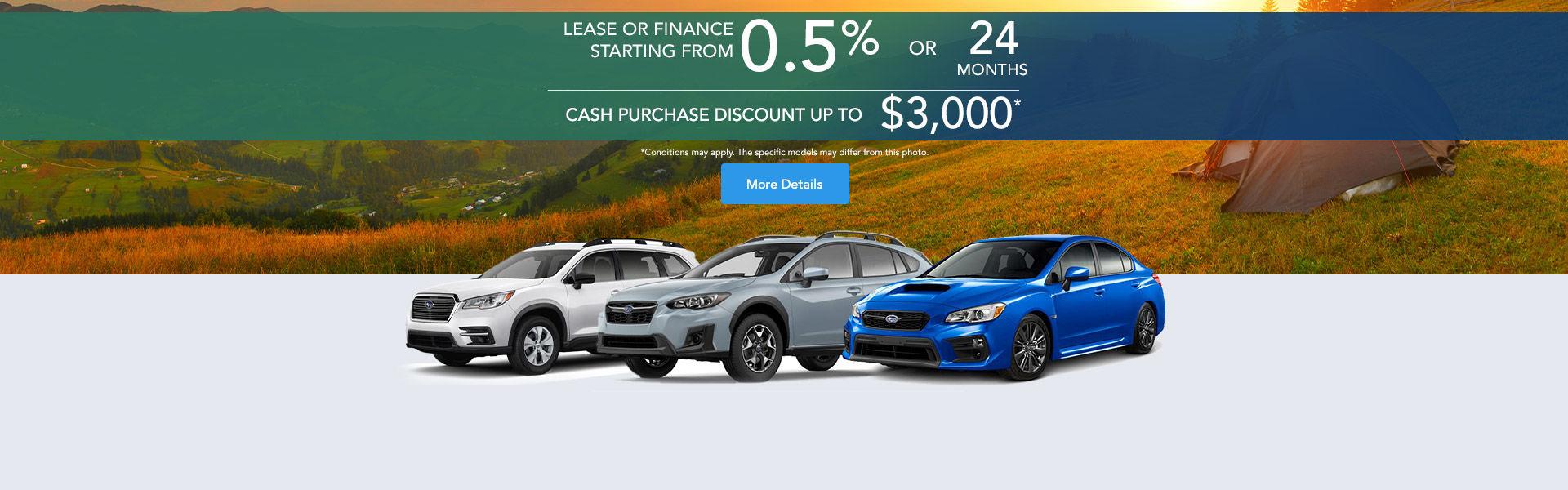 Subaru event - headers