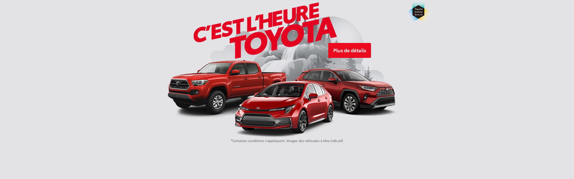 C'est l'heure de Toyota