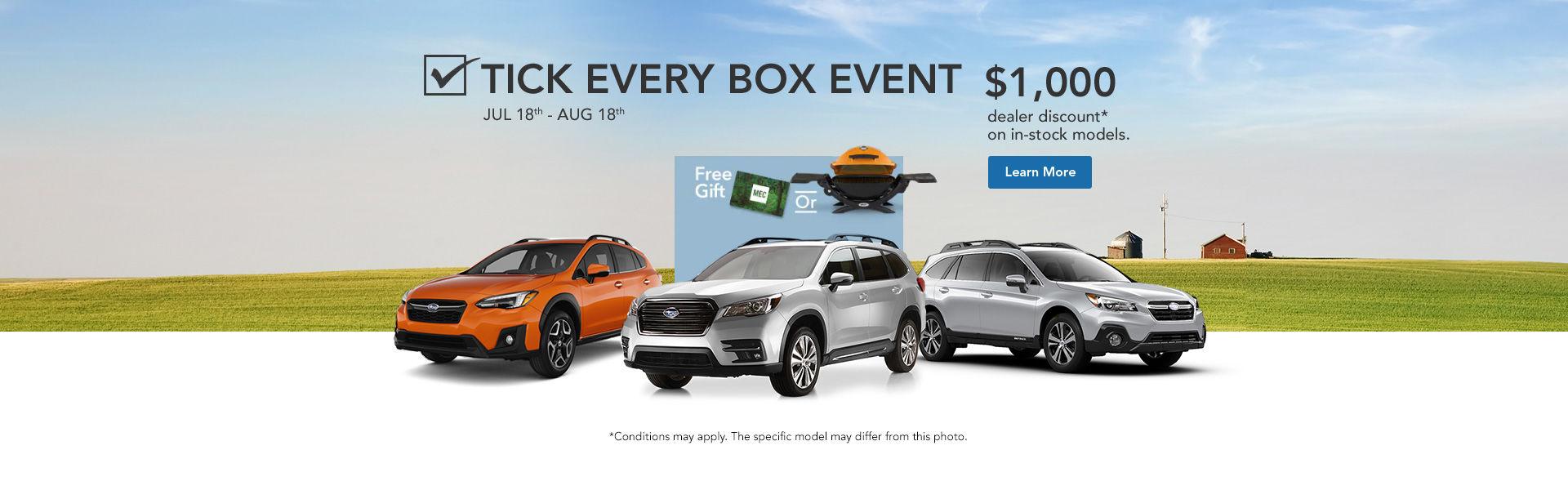 Tick Every Box Event