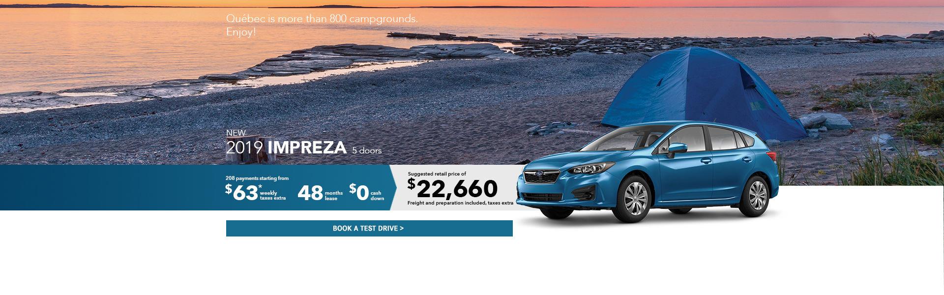 Subaru Impreza August 2019