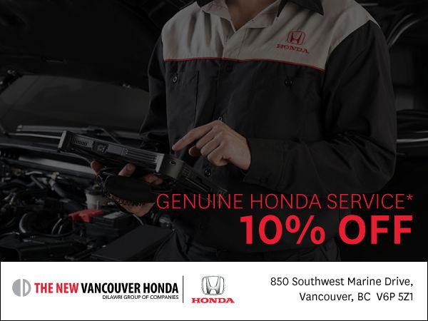 Genuine Honda Service | 10% off*