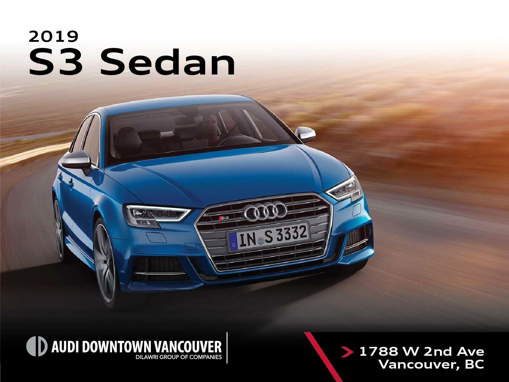 The 2019 Audi S3 Sedan