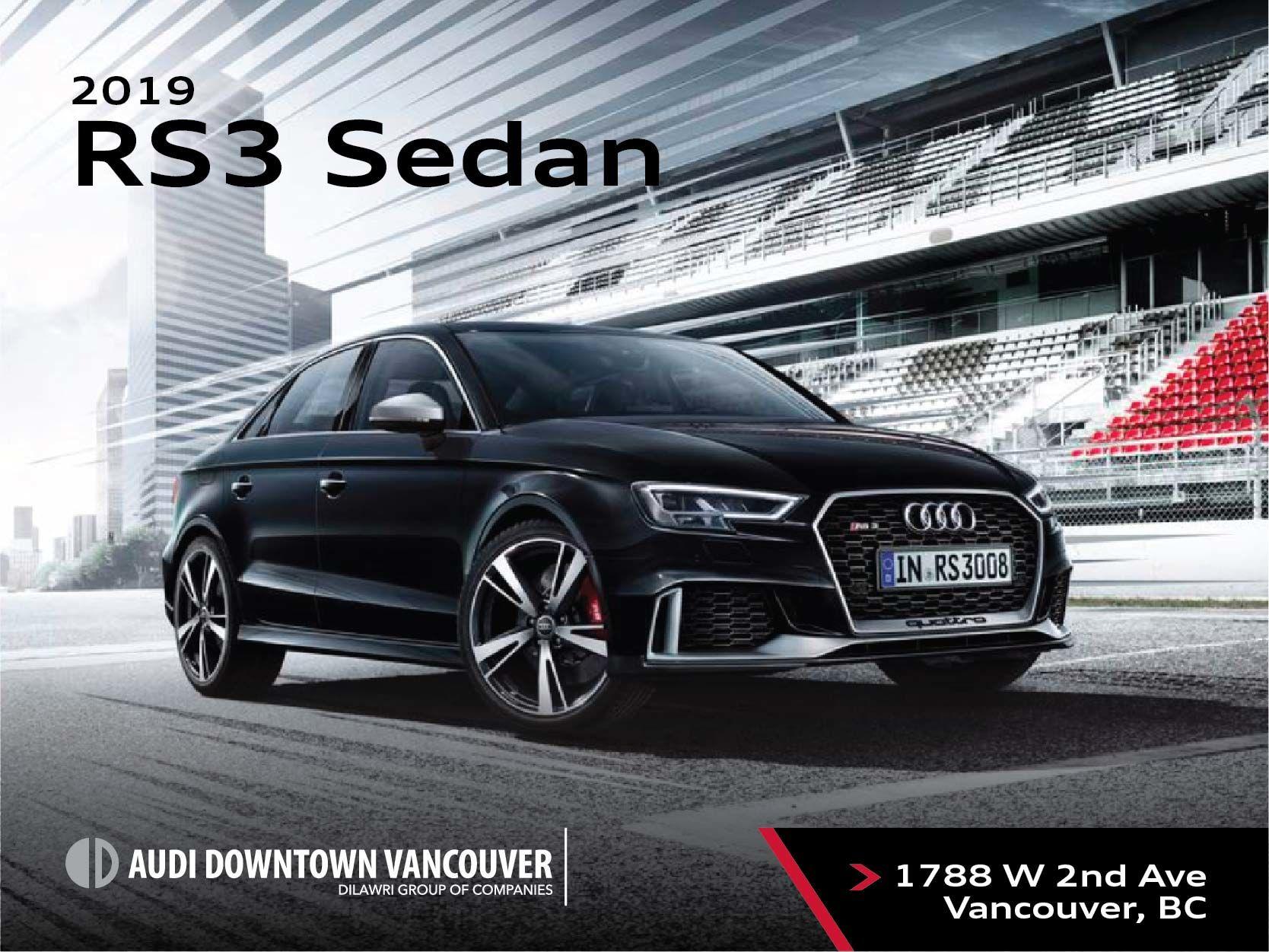 The 2019 Audi RS 3 Sedan