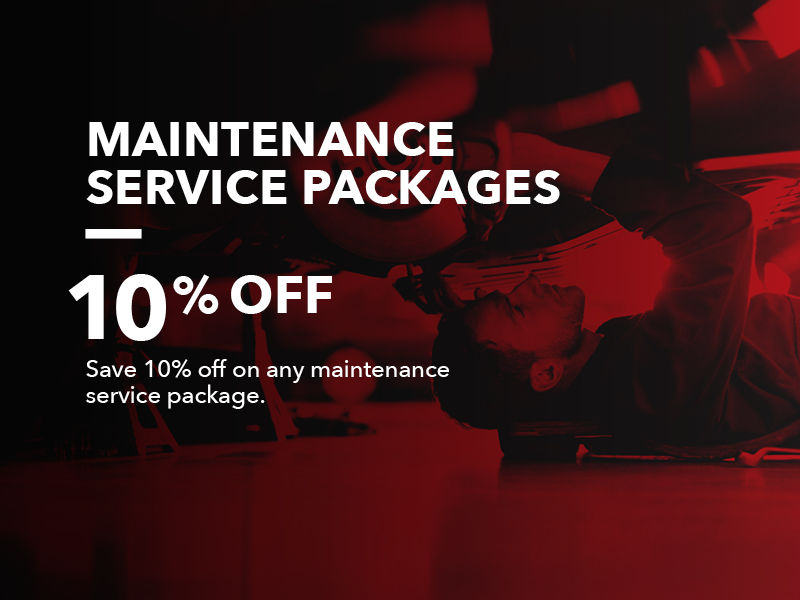 Maintenance Service Packages: 10% OFF