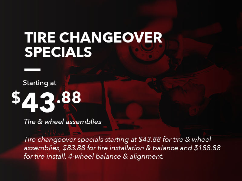 Tire Changeover Specials