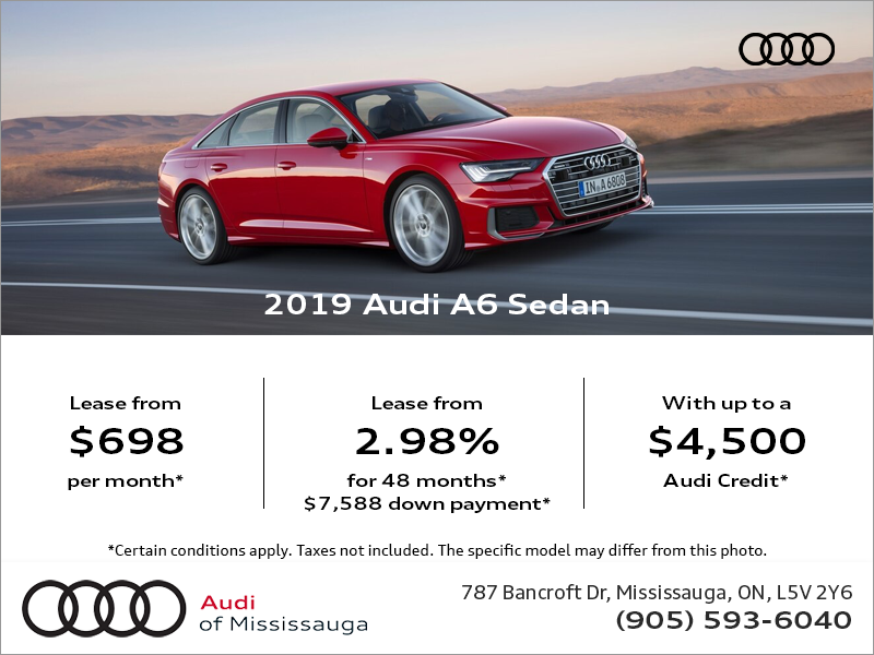 Drive the 2019 Audi A6 today!