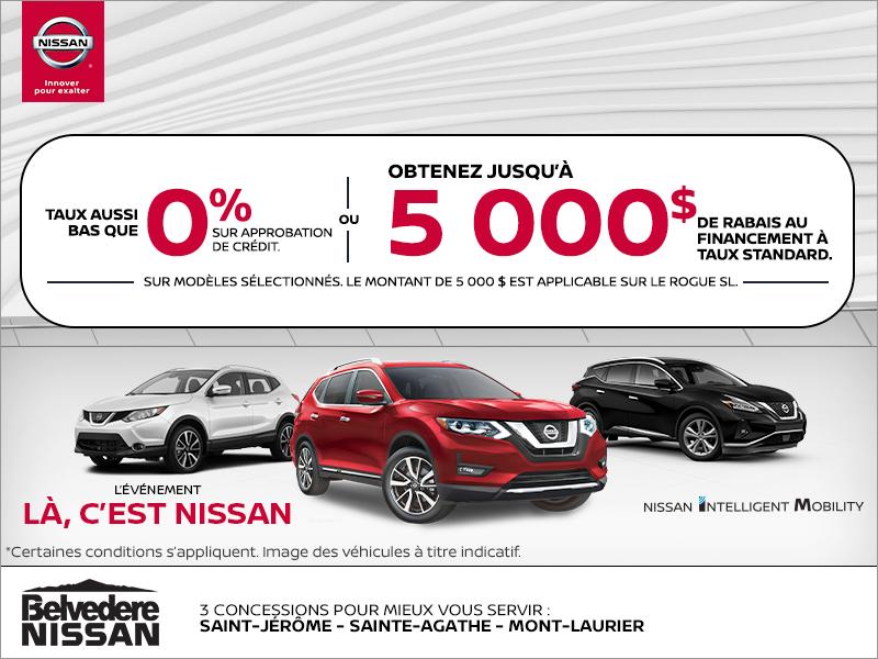 L'événement là, c'est Nissan