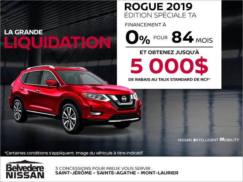 Financez le Nissan Rogue 2019!