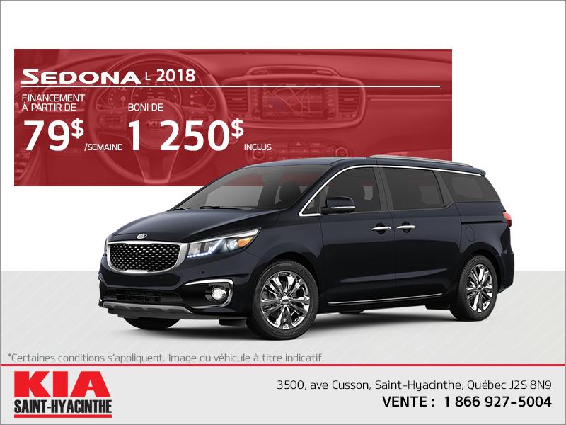 Le Kia Sedona 2018
