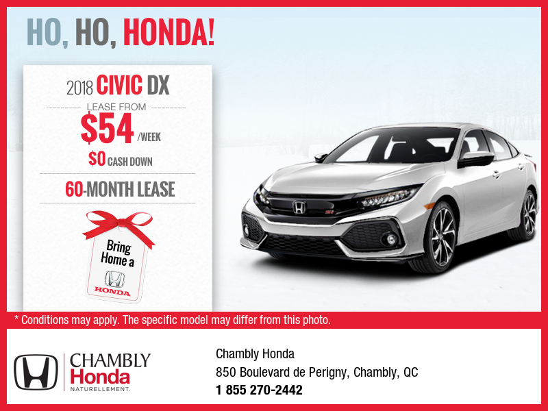 Lease the 2018 honda civic chambly honda promotion in for Honda civic lease offers