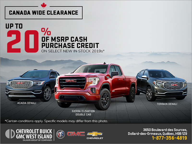 The GMC Canada Wide Clearance Event!