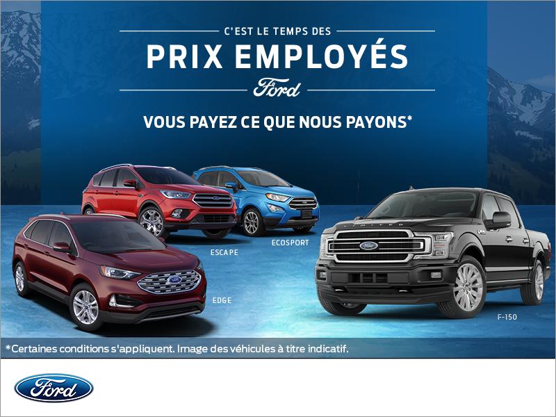 L'événement des prix employés Ford!