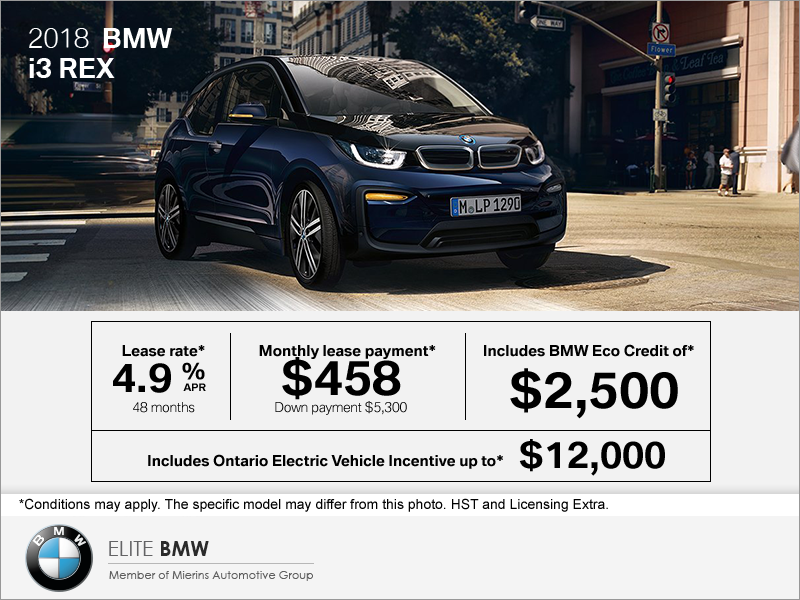 2018 Bmw I3 Rex Mierins Automotive Group Promotion In Ontario