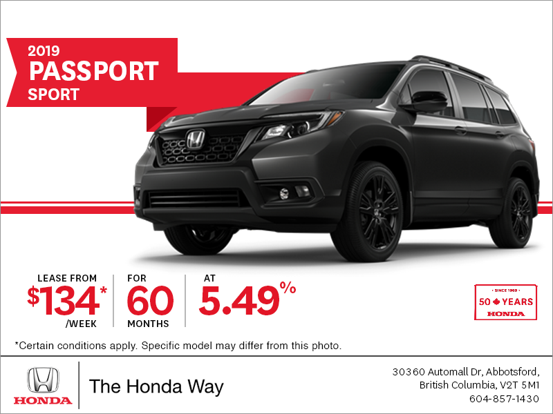 Lease the 2019 Honda Passport Today!