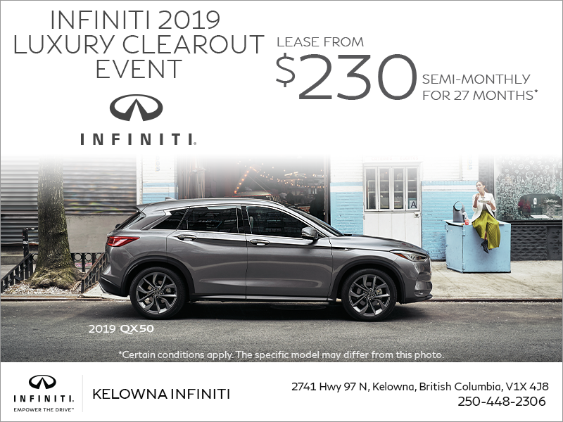 INFINITI 2019 Luxury Clearout Event