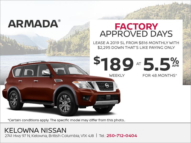 Kelowna Nissan Get The 2019 Nissan Armada