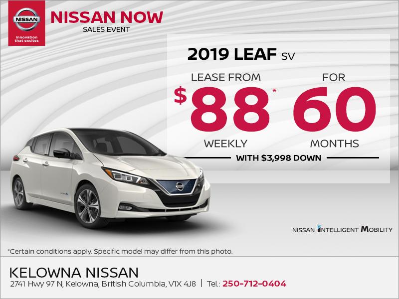 Get the 2019 Nissan Leaf