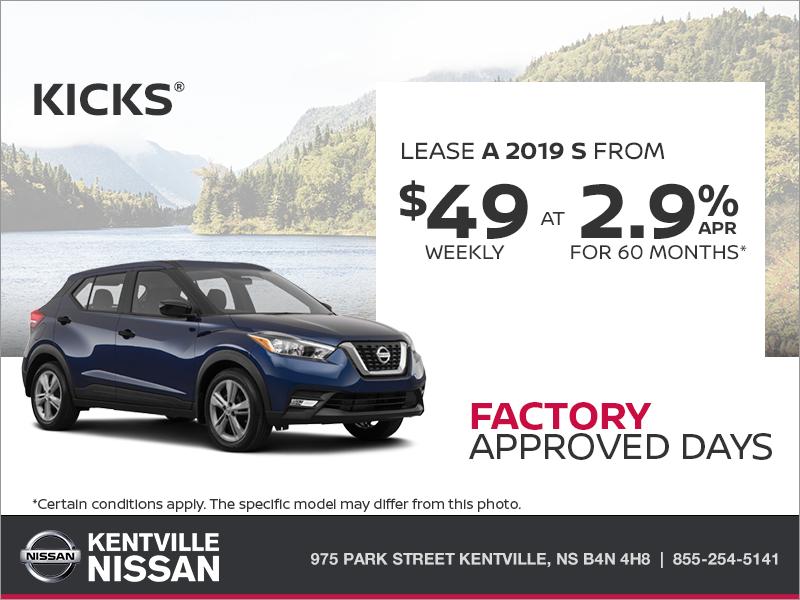 Get The 2019 Nissan Kicks Today At Kentville Nissan