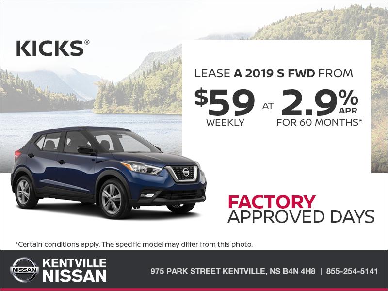 Get the 2019 Nissan Kicks Today!