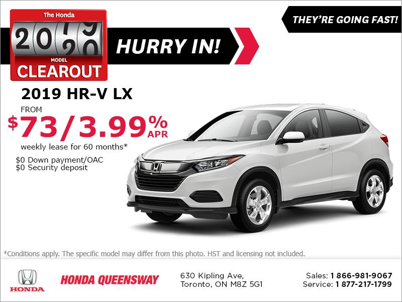 Lease the 2019 Honda HR-V!
