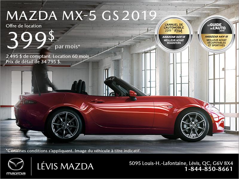 Procurez-vous la Mazda MX-5 2019!