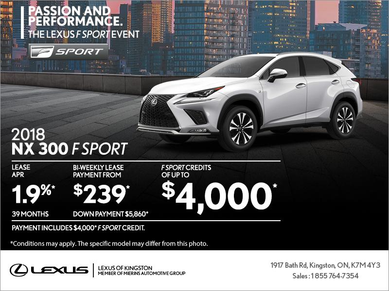 Get The 2018 Lexus NX 300 Today!   Lexus Of Kingston Promotion In Kingston
