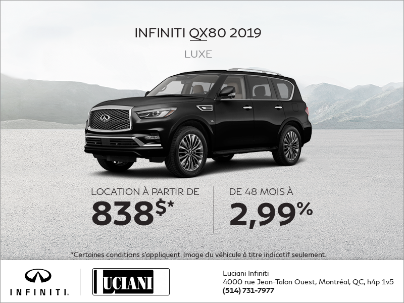 Louez la INFINITI QX80 2019!