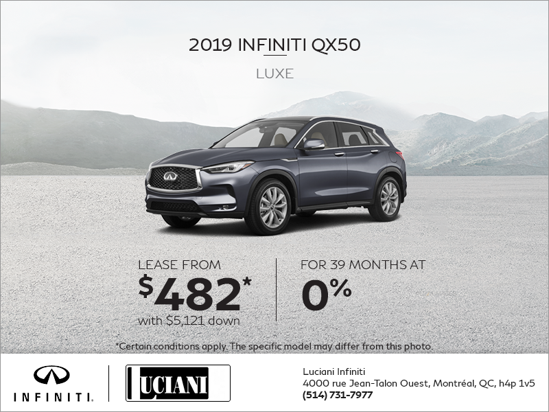 Lease the 2019 INFINITI QX50!