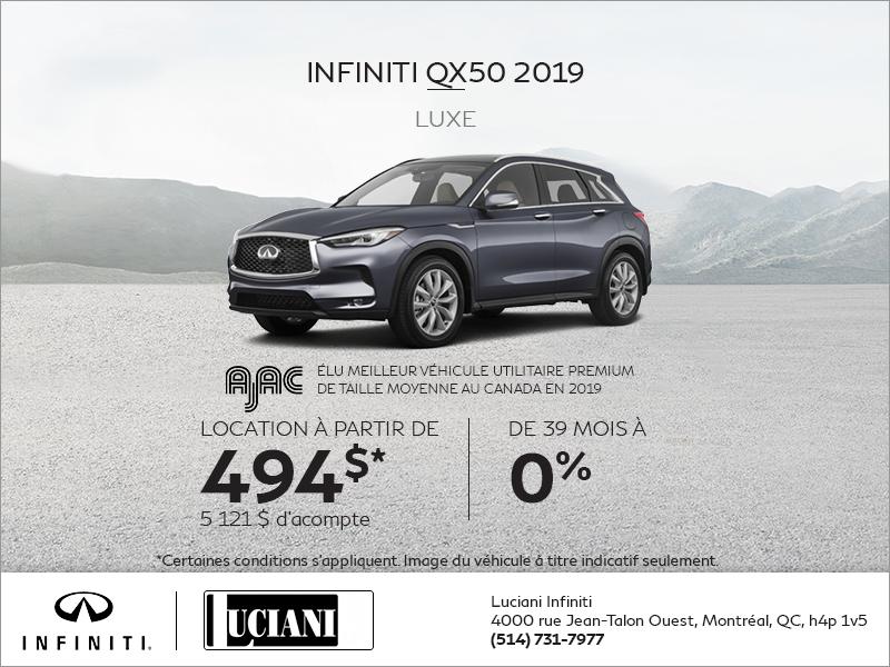 Louez le INFINITI QX50 2019!