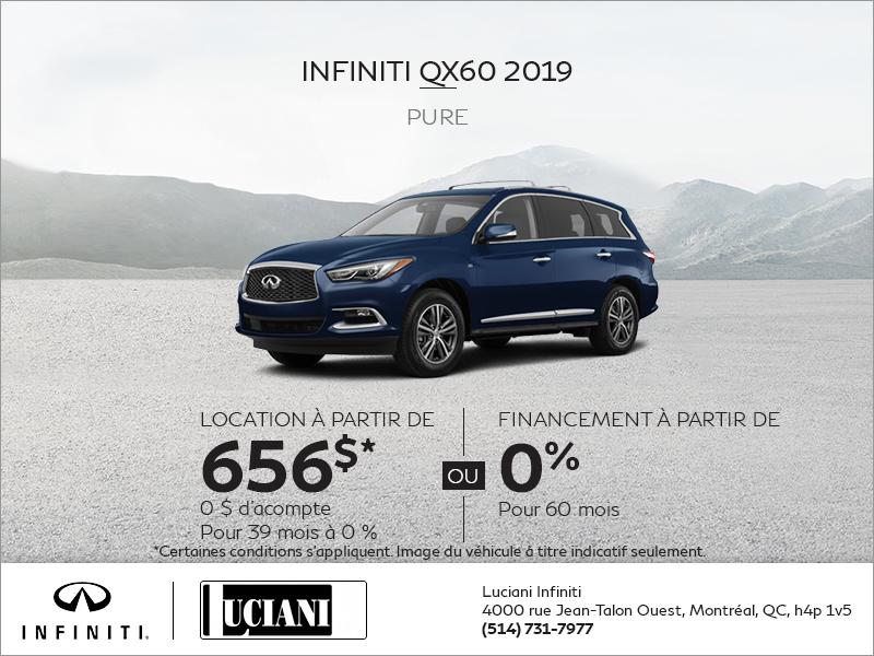 Louez le INFINITI QX60 2019!