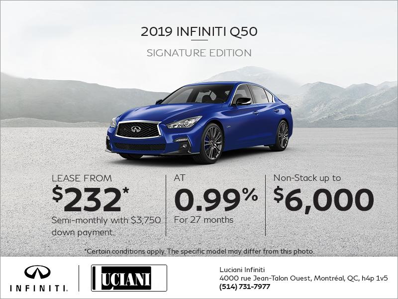 Lease the 2019 INFINITI Q50!